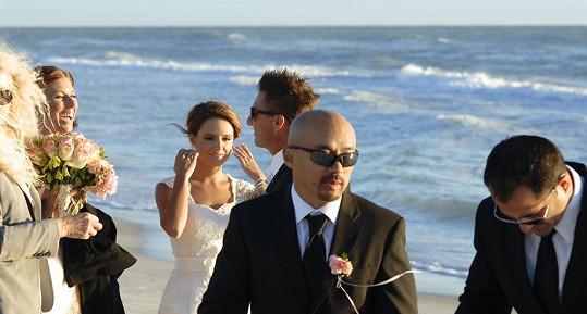 Svatba se konala jen v úzkém rodinném kruhu.