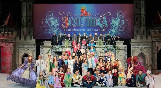 Muzikál Popelka slavil před Vánocemi v Kyjevě úspěch.