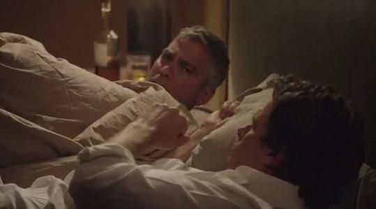 Vyvrcholení reklamy s Clooneym a manželem Cindy Rande Gerberem.