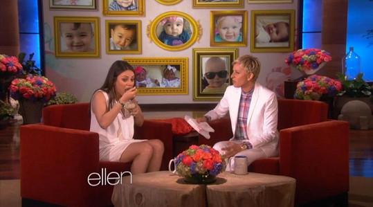 Mila si na kysaném zelí pochutnávala i u Ellen DeGeneres.