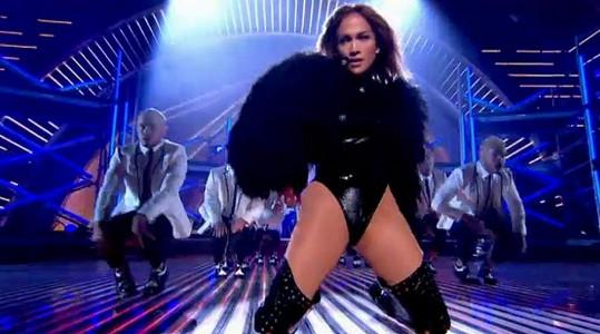 Jennifer Lopez během vystoupení.