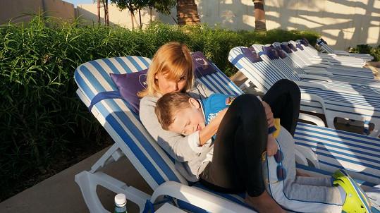 Lucca má štěstí, obě její děti jsou pohodáři.