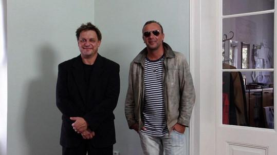 Václav Bartoš (vlevo) kvůli Liškovi přibral dvacet kilo.