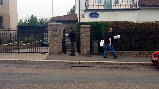 V domě Josefa Rychtáře zasahovali policisté.
