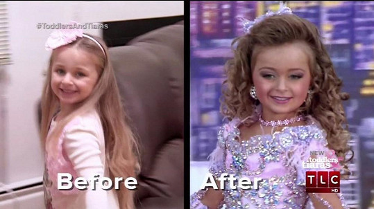 Isabella jako čtyřletá v pořadu Toodlers and Tiaras.