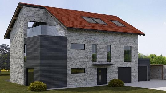 Dům Dary a Patrika bude z velké části obložený přírodním kamenem a ponese aktuální trendové prvky.