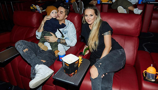Martina se synem Leem a partnerem Marcusem