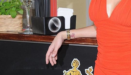 Tetování Petry Faltýnové.
