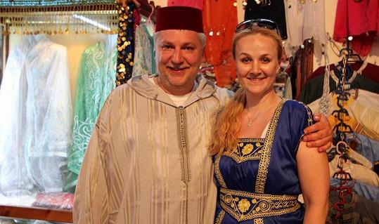 Marockým tradicím se Linda Finková s přítelem Milanem nevyhýbali.