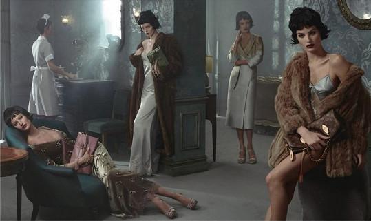 Gisele Bündchen, Isabeli Fontana, Carolyn Murphy a Karen Elson pro Louis Vuitton
