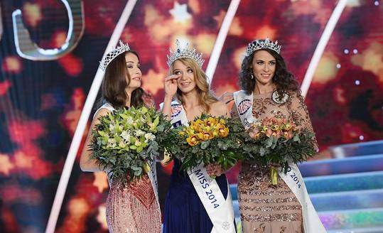 Česká Miss World Tereza Skoumalová, Česká Miss 2014 Gabriela Franková a Česká Miss Earth Nikola Buranská.