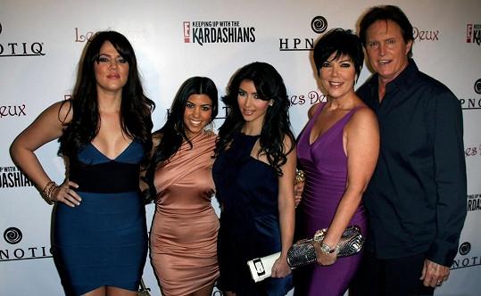 Kris Jenner s manželem a dcerami Khloé, Kim a Kourtney