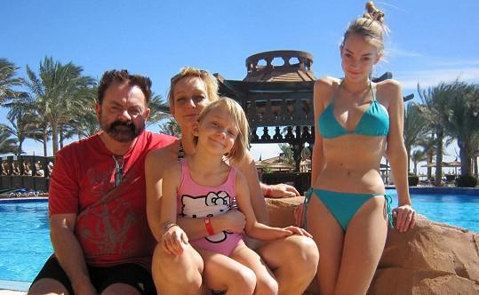 Václav Upír Krejčí si užíval s rodinkou sluníčka v Egyptě.