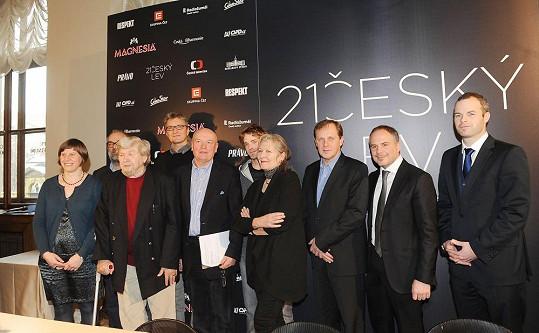 Nominace k 21. Českému lvu byly uděleny