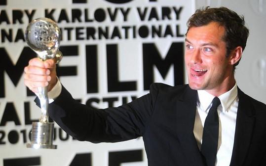 Jude před třemi lety na MFF Karlovy Vary