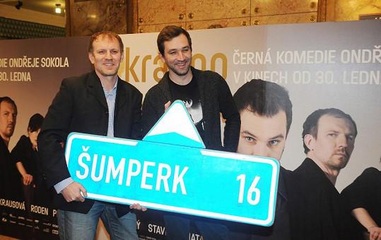 Ondřej Sokol a Martin Finger natáčeli film Krásno ve svém rodném Šumperku.