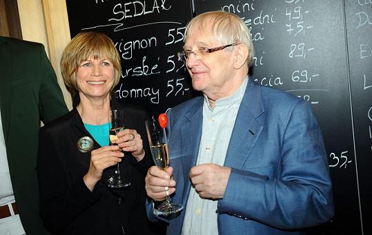 Jitka Molavcová a Jiří Suchý jsou nerozlučná dvojka.