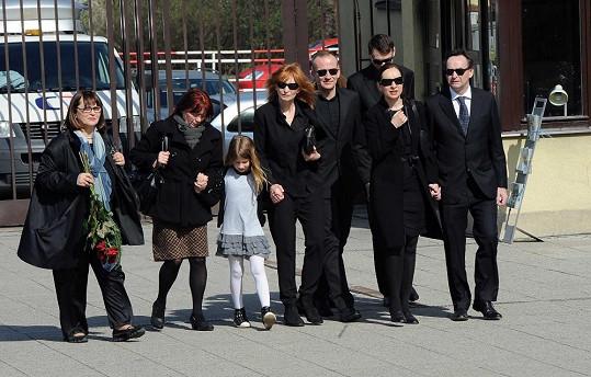 Dcera Chytilové Tereza (uprostřed) s rodinou