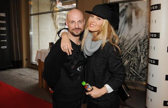 Simona se stylistou Filipem Vaňkem na módní přehlídce