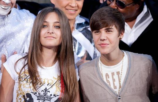 Paris Jackson s Justinem Bieberem loni v lednu.