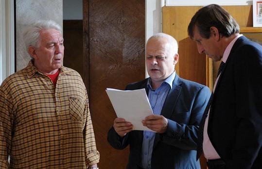 Bob Klepl s Jiřím Krampolem a Václavem Vydrou