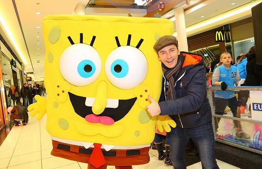 Petr Vondráček s filmovým Spongebobem