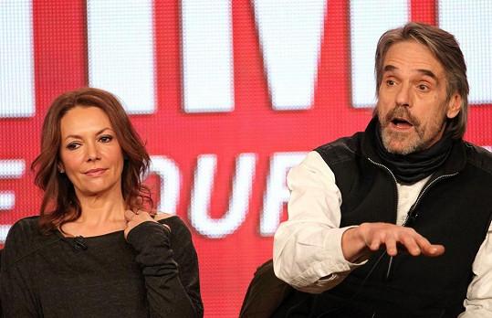 Joanne s hereckým kolegou Jeremym Ironsem