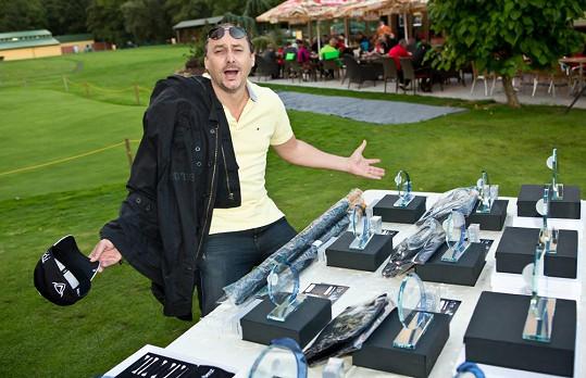 Marian Vojtko s cenami z golfu