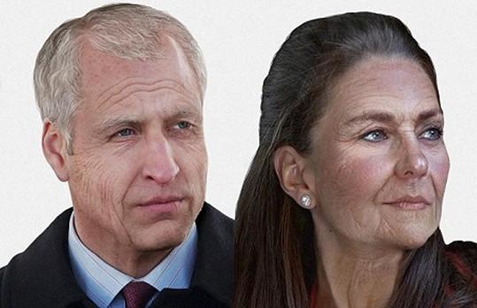 Královský pár William a Catherine a jejich domnělá vizáž za 50 let.