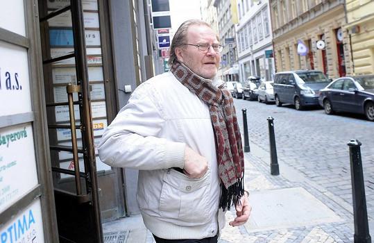 Jan Vlasák přišel dát poslední sbohem svému hereckému kolegovi.