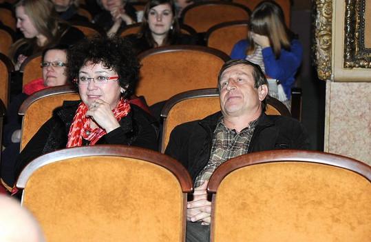 Václav Vydra a Jana Boušková v kině