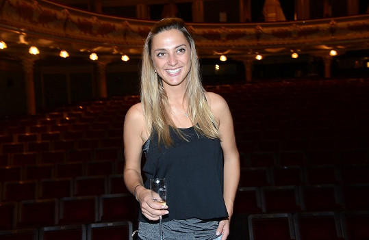 Bára Poláková byla po představení plná euforie.