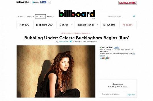 """Buckingham v rubrice """"Bubbling Under"""", která se zabývá začínajícími umělci."""