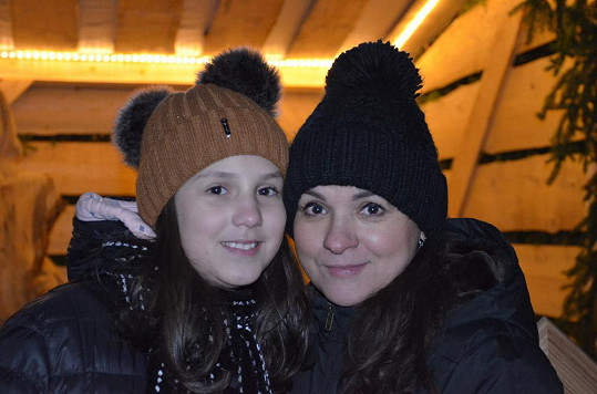 Magda Malá s dcerou Terezou