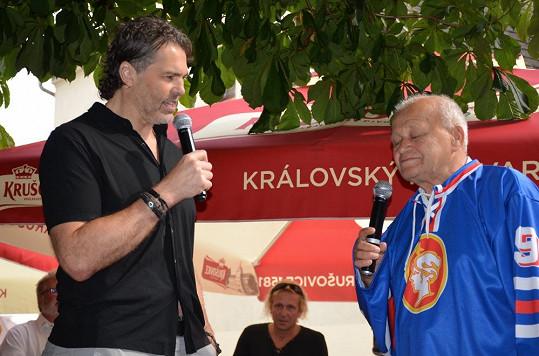 """Lubomír """"Čužák"""" Rys s Jaromírem Jágrem"""