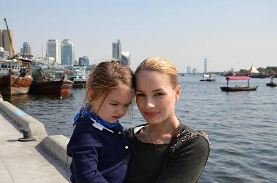 Markéta s dcerou Natálkou, která jí je velmi podobná.
