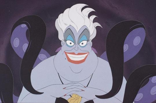 Čarodějnice Uršula z pohádky od Disneye Malá mořská víla.