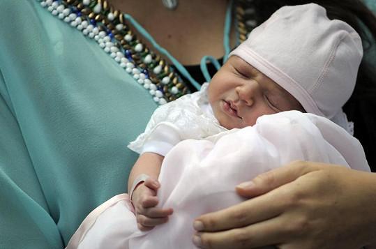 Princezna Amalia Gabriela Maria Teresa v náručí maminky