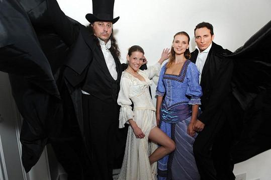 S kolegyní Michaelou Gemrotovou, Marianem Vojtkem a Radimem Schwabem