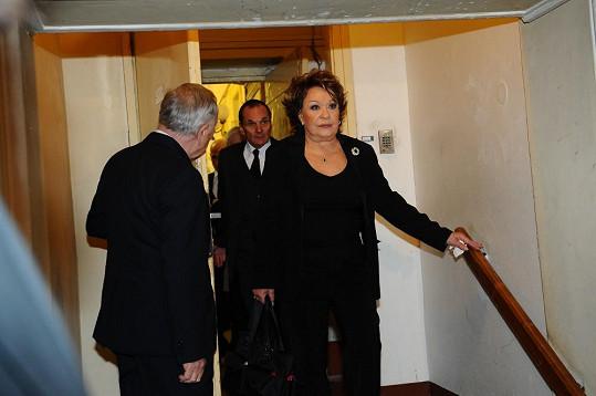 Jiřina Bohdalová nesla smutek statečně.