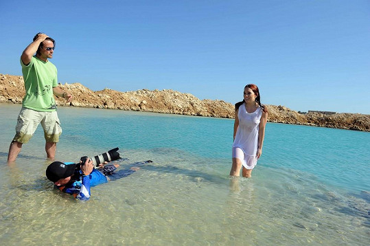 Míša natáčí v Egyptě videoklip.