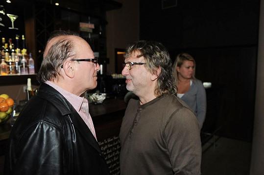 Petr Janda s Daliborem Jandou se skvěle bavili.