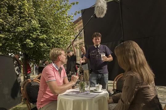 Jakub během natáčení filmu