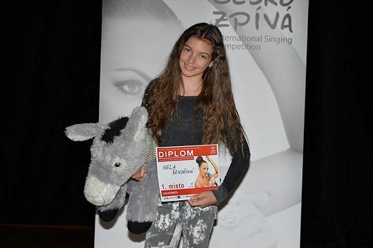 Nela Řehořová vyhrála Česko zpívá.