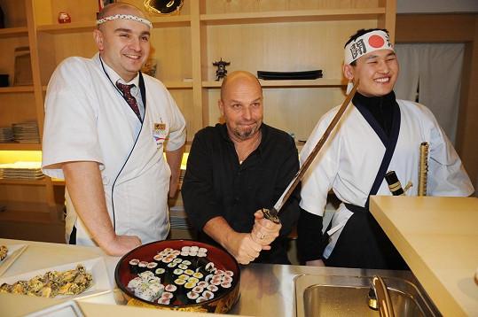 Zdeněk Pohlreich otevíral japonskou restauraci.