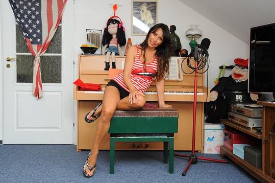 Heidi Janků v pracovně