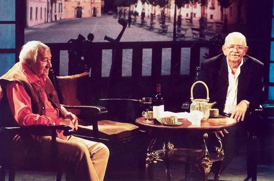 Miroslav Horníček (†2003) a Vlastimil Brodský (†2002)