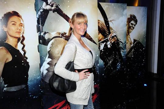 Dominika Mesarošová na premiéře filmu 300: Vzestup říše