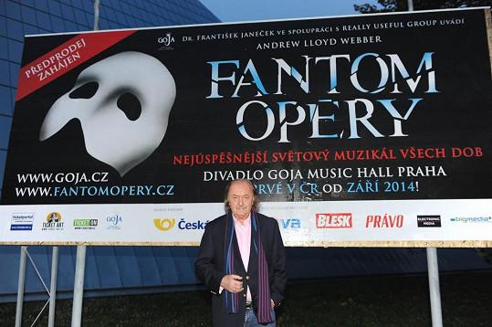 Příští představení, které František Janeček chystá, je Fantom Opery.