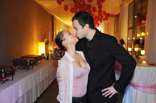 Mirek Hrabě se svou přítelkyní Miriam